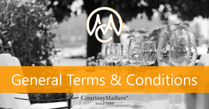 CourtesyMasters general terms & conditions