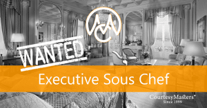 Job Executive Sous Chef via CourtesyMasters