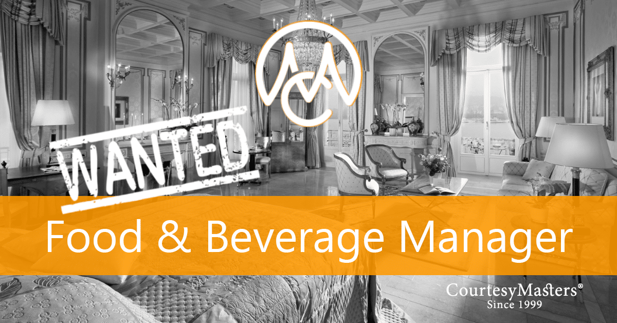 Job Food & Beverage Manager via CourtesyMasters