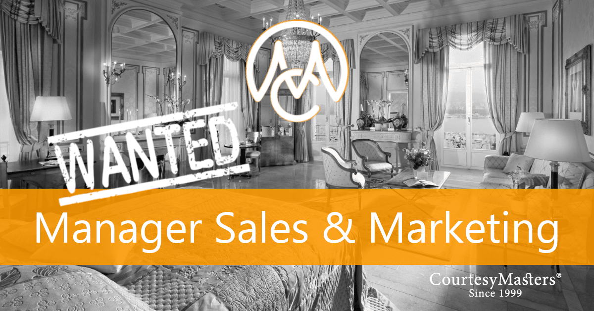 Job Manager Sales & Marketing via CourtesyMasters