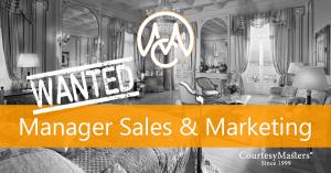 Job Manager Sales & Marketing via CourtesyMasters
