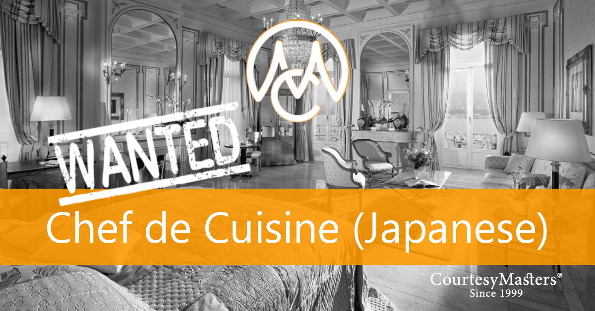 Job Chef de Cuisine (Japanese, fine-dining) via CourtesyMasters